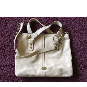 Fossil leather hobo satchel